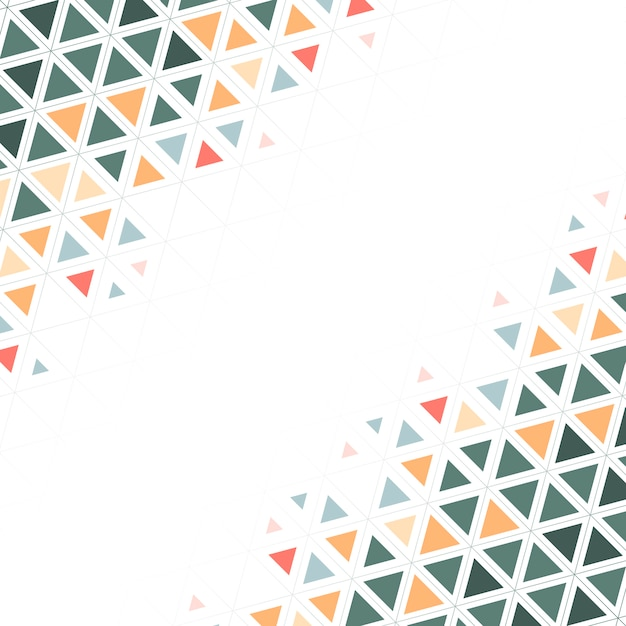 Colorful triangle patterned on white background Free Vector