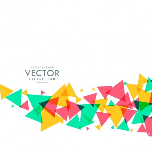 Colorful triangle waves background Vector | Free Download