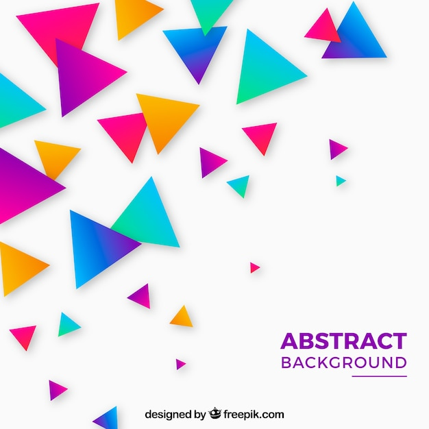 Free Vector | Colorful triangles background