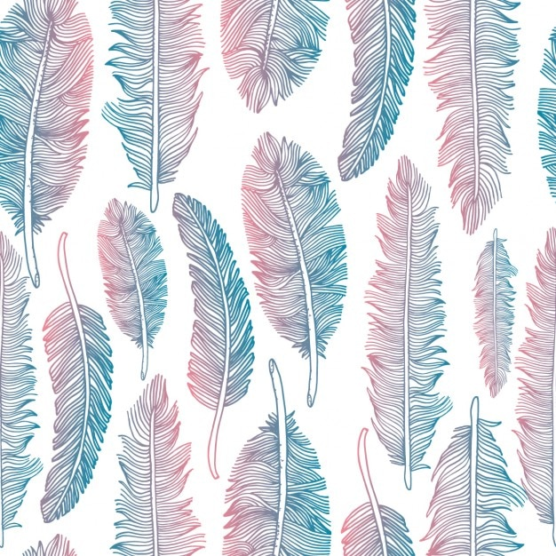 colorful tribal feather pattern vector free download
