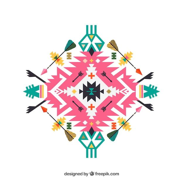 colorful tribal ornament vector premium download