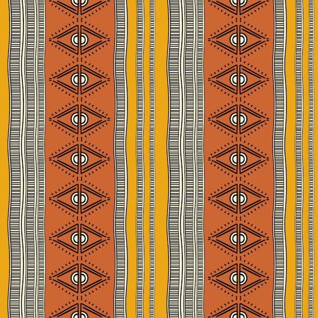 Colorful tribal vintage seamless pattern Premium Vector