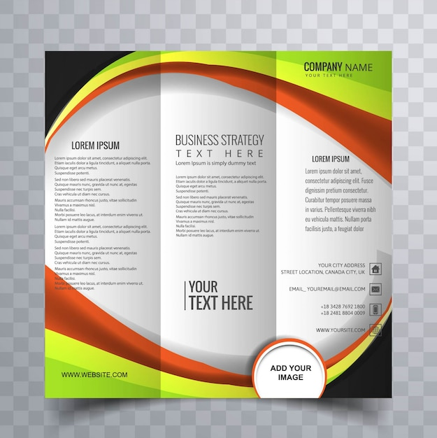 Colorful trifold brochure Free Vector