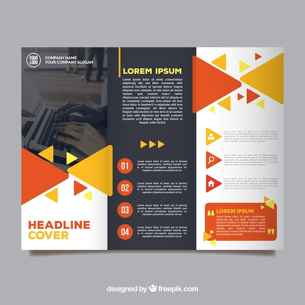 Free Vector Colorful Trifold Business Brochure Template