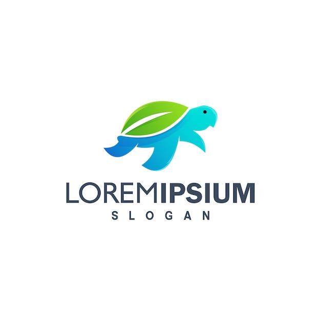Colorful turtle logo design illustration Premium Vector