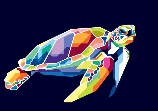 Colorful turtle Premium Vector