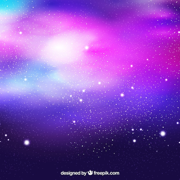 Colorful universe background with stars