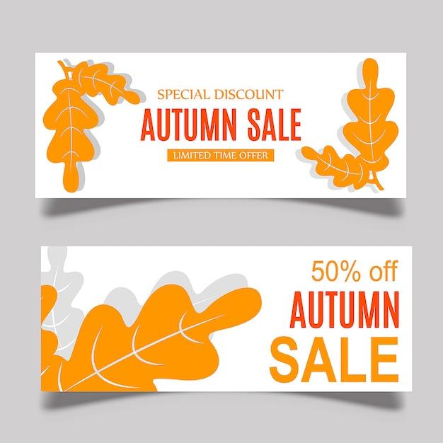 Colorful vector autumn banner design Free Vector