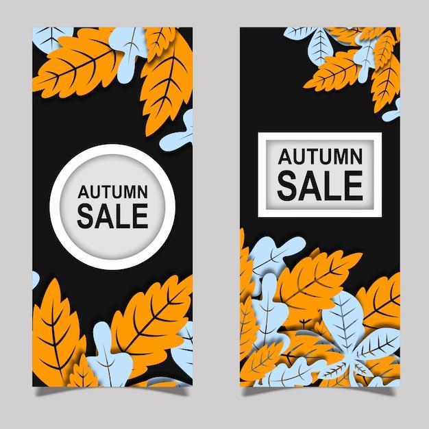 Colorful vector autumn leaflet design Free Vector