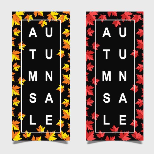 Colorful vector autumn leaflet design Premium Vector