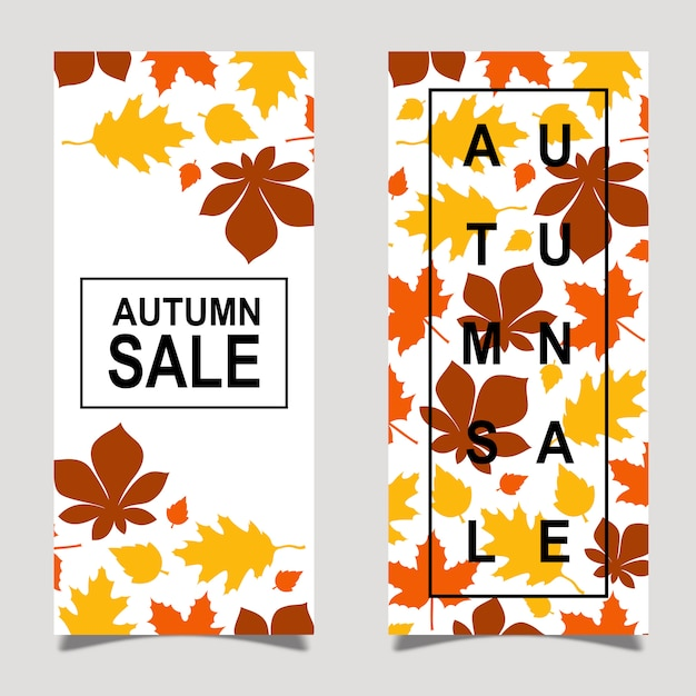 Colorful vector autumn leaflet design Free Vector