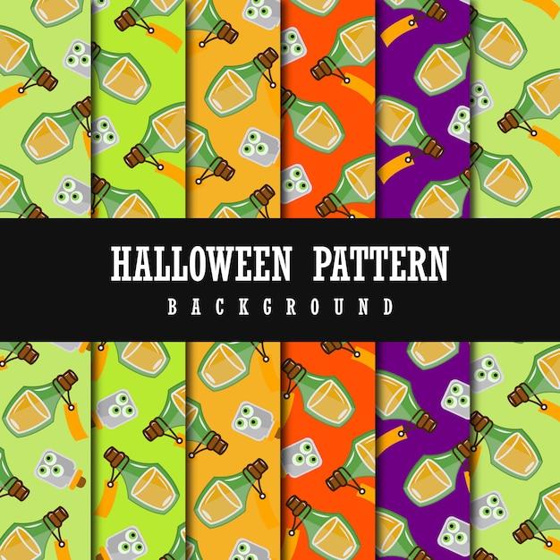 Colorful vector halloween pattern background Premium Vector