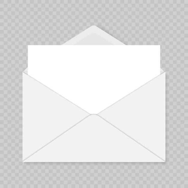 Colorful vector illustration of mail envelope template over transparent background. greeting card template Premium Vector