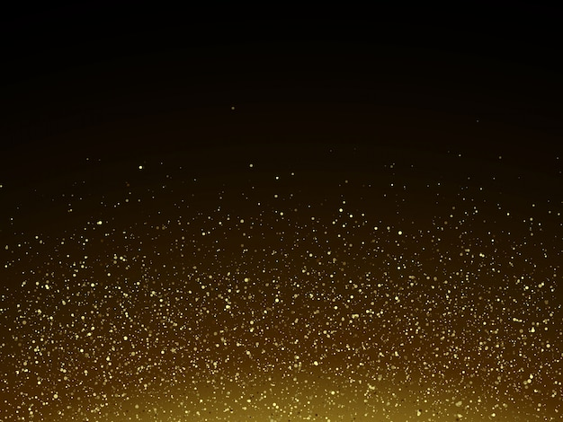 Colorful vector illustration with golden decorative elements over black background. abstract templates for holiday design Premium Vector