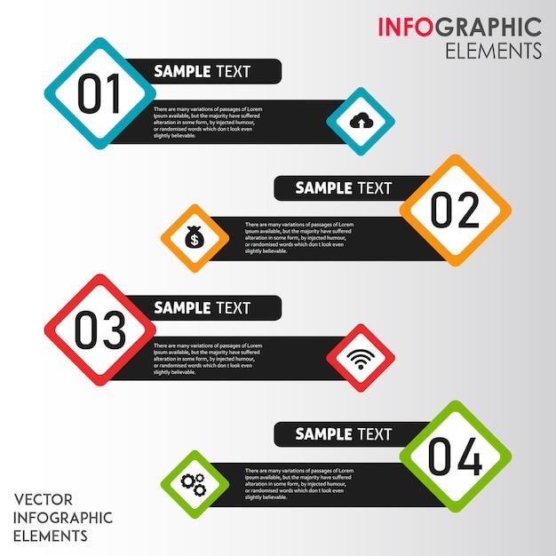 Disegni infografica vettoriale colorato Vettore gratuito