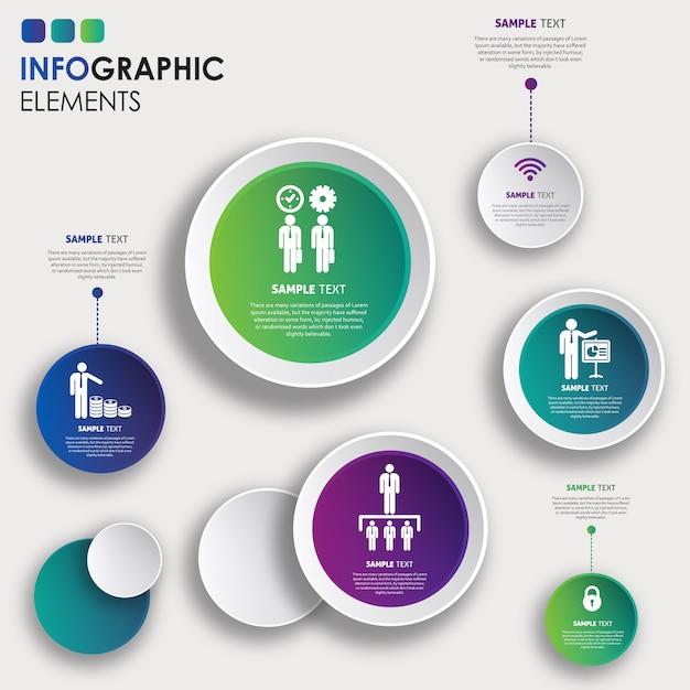 Design colorato infografica vettoriale Vettore gratuito