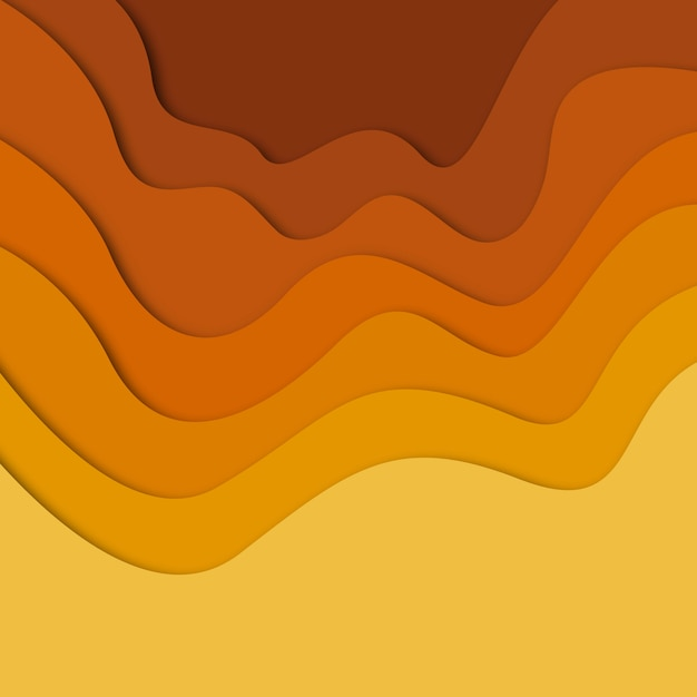 Colorful vector papercut background Free Vector