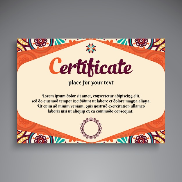 Colorful vintage ethnic certificate template vector free download colorful vintage ethnic certificate template free vector yelopaper Gallery