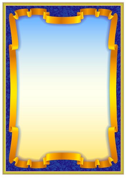 colorful vintage frame border design vector