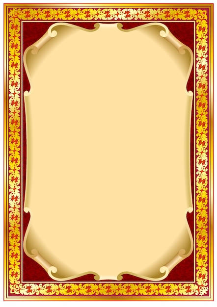 Colorful Vintage Frame Border Vector Premium Download