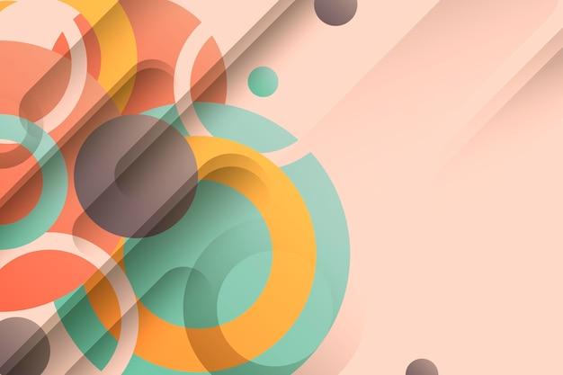 Красочные обои с геометрическими формами Бесплатные векторы