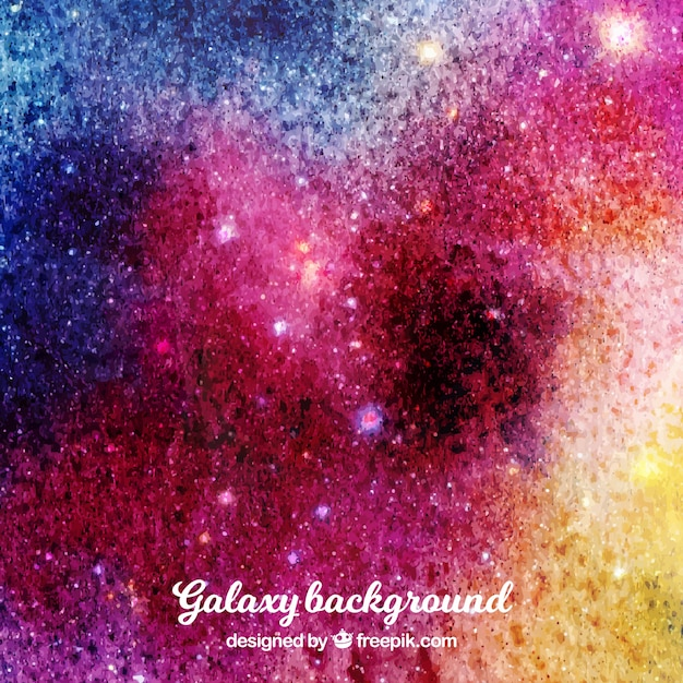 Colorful watercolor background with stars