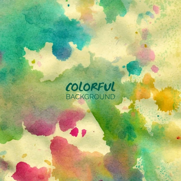 Colorful watercolor background Free Vector