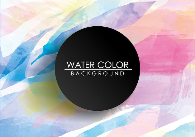 Colorful watercolor background Premium Vector