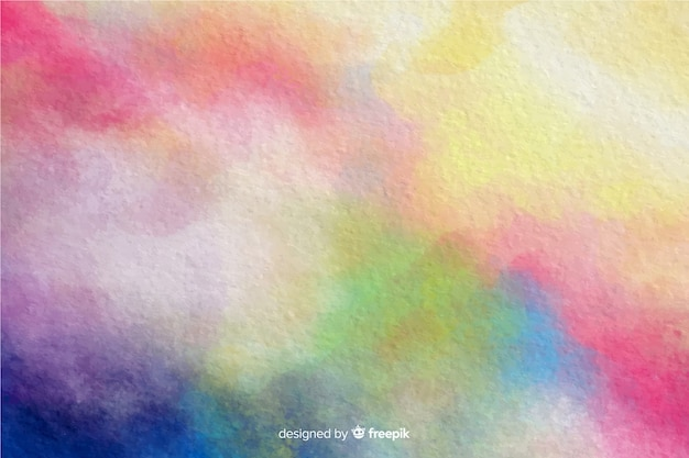 Colorful watercolor effect background Free Vector