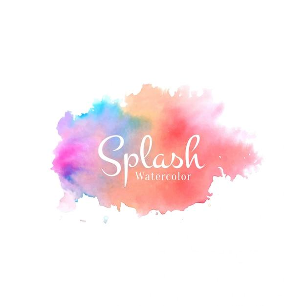 Colorful watercolor elegant splash design background Free Vector