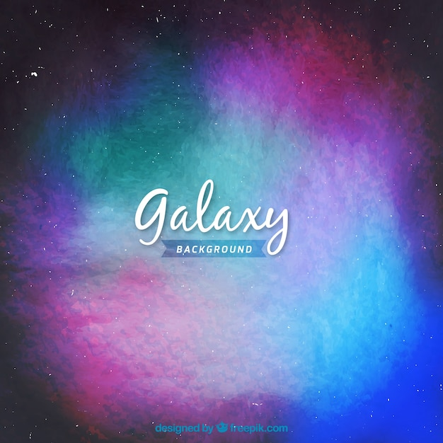 Colorful watercolor galaxy background