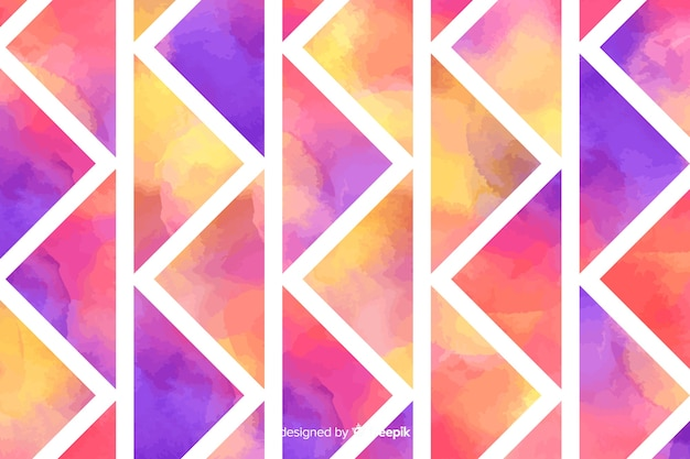 Colorful watercolor mosaic background Free Vector