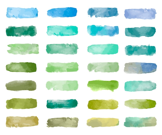 Colorful watercolor patch background vector Free Vector