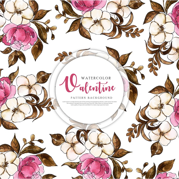 Colorful watercolor pattern background Premium Vector