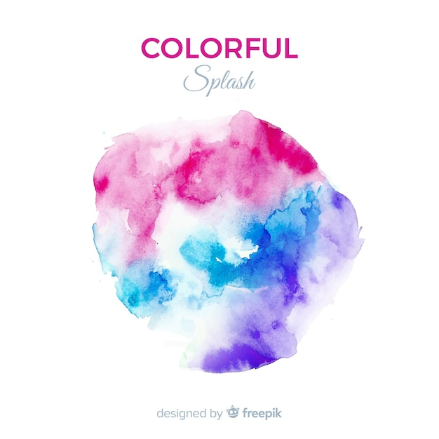 Colorful watercolor splash background Free Vector