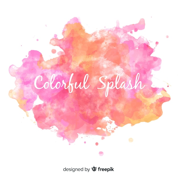 Colorful watercolor splash Free Vector