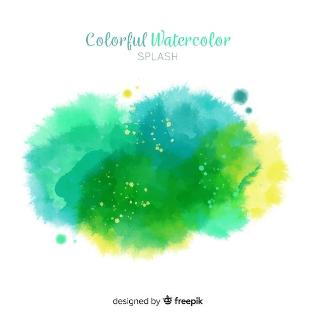 Colorful watercolor splash Free Vector