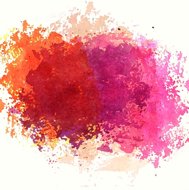 colorful watercolor stain design free vector
