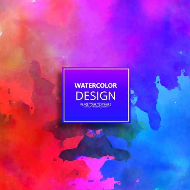 Colorful watercolor texture background