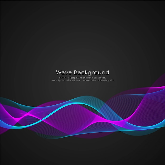 Colorful wave stylish background Free Vector
