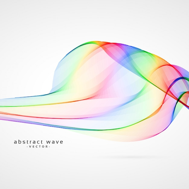 colorful waves background vector free download