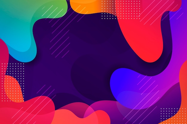Colorful wavy abstract background Free Vector