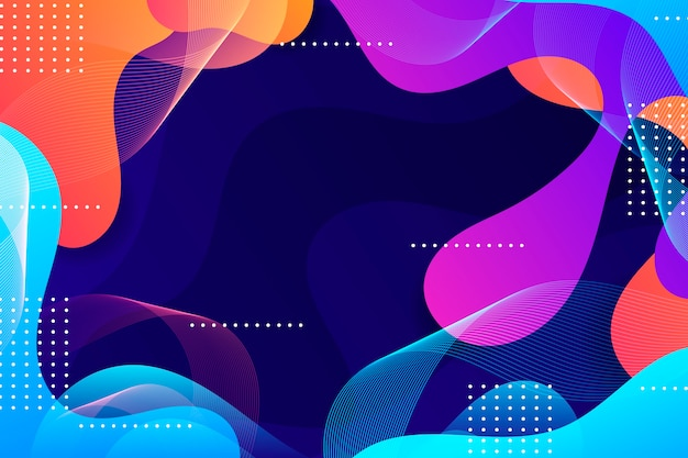 Colorful wavy abstract wallpaper Free Vector