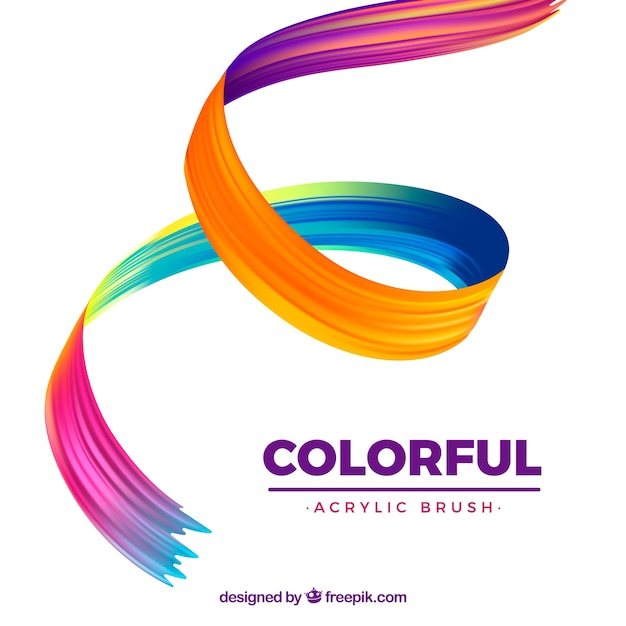 Colorful wavy acrylic background Free Vector