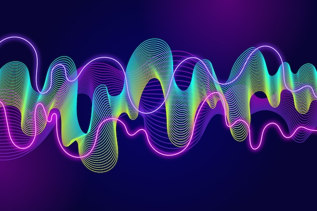 Colorful wavy background Free Vector