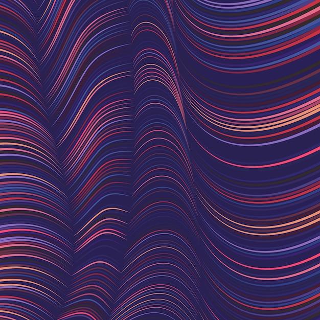 Sfondo colorato linee ondulate Vettore gratuito