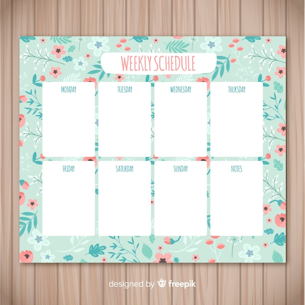 Schedule Template Weekly from image.freepik.com