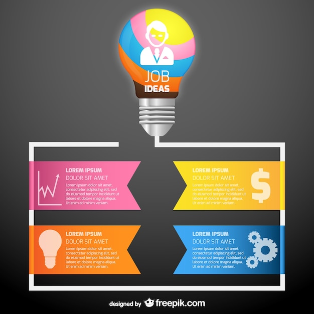 Colorful Work Ideas Infographic Template Vector Free Download