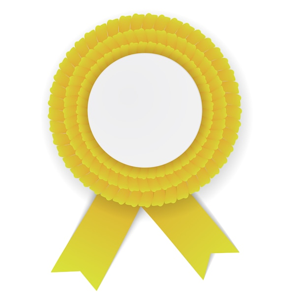 Colorful yellow rosette Premium Vector