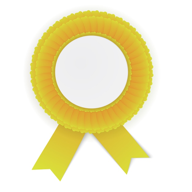 Colorful yellow rosette Premium Vector